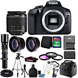 Canon EOS Rebel 1300D/T6 18MP DSLR Camera with 18-55mm IS III lens and 500mm Telephoto Lens Accessory Kit