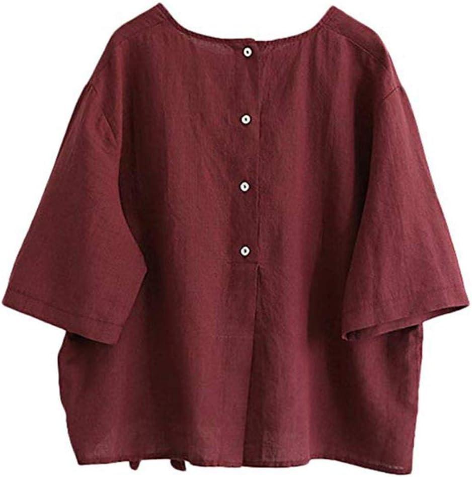 Camisa Tops mujeres, xinantime Otoño Invierno Blusa de lino ...