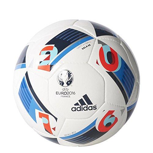 adidas Herren Ball EURO 2016 Sala 65, White/Bright Blue/Night Indigo, FUTS, AC5432