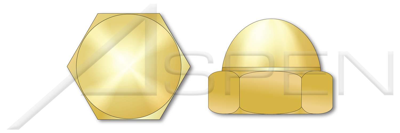 (150 Pcs) #4-40, Acorn Cap Dome Nuts, Closed End, Brass