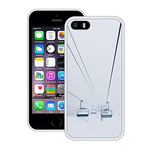 Cablecar Schnee | Handgefertigt | iPhone 5 5s SE | Weiß Hülle