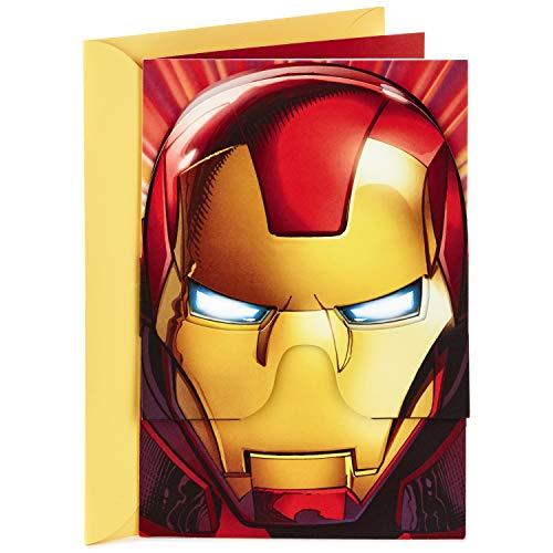 - Hallmark Vida Marvel Iron Man Spanish Birthday Card for Kids with Removable Mask