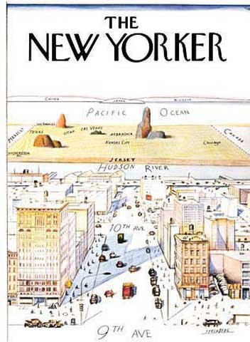 cover print by saul steinberg