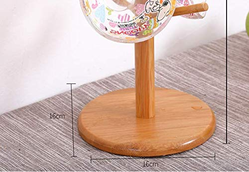 Solid Tree Shape Bamboo Cup Storage Holders Stand Kitchen 6 Mugs Hanging Racks Display stand