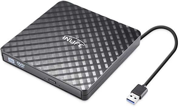 Grabadora DVD/CD Externa INLIFE Lector DVD Portátil USB 3.0 Ultra Slim Portátil CD/DVD/-RW/ROM Unidad Externa Burner Quemador para Win 10/8/7/XP/Vista/Linux/Mac OS: Amazon.es: Electrónica