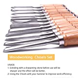 Atoplee 12pcs Woodworking Professional Gouges