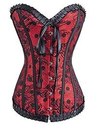 Alivila.Y Fashion Womens Sexy Vintage Floral Denim Corset Bustier