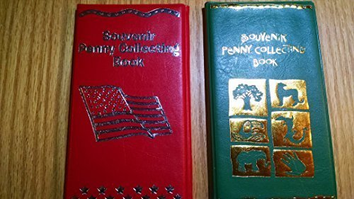 RINCO One Green/One Red Elongated Souvenir Penny Collecting Book W/ 2 Free Uncirculated Pressed Pennies!