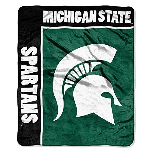 NCAA Michigan State Spartans 50-Inch-by-60-Inch Raschel Plush Throw