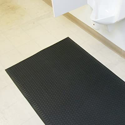 "Rubber-Cal ""Safe-Grip"" Non-Skid Mats - 1/4 x 34-inch Rubber Safety Mats - Black, Brown or Red - Sold in 3 Lengths"