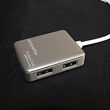 3cf4e830bb8 New SIYOTEAM SY-H20 USB 2.0 High Speed 4 Port Hub Silver for Macbook:  Amazon.ca: Electronics