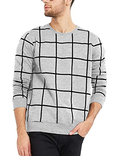 Maniac Men's Cotton T-Shirt (Mens-Ss18-Rn-Fs-Checked-Tshirt)