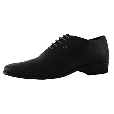 90d8cb08366f Franco Leone Men s Black Leather Shoes and Sandals -10 UK  Amazon.in ...