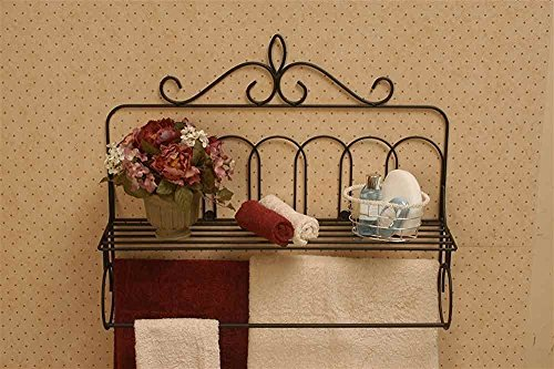 J&J Wire Victorian Double Quilt Holder with Shelf
