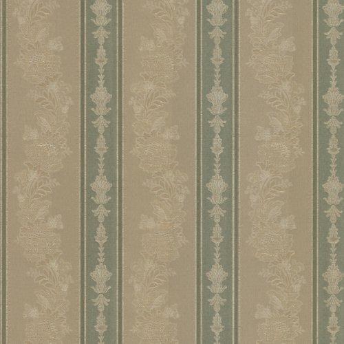 Mirage 993-68616 Abraham Embellished Stripe Wallpaper, Green