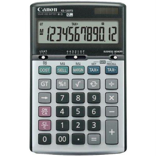 Canon 8508A013 Ks1200ts Solar & Battery-powered Calculator