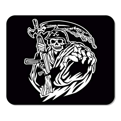 Suike Mousepad Computer Notepad Office Gangster Grim Reaper Gun Ammo Army Bandit Bone Cemetery Home School Game Player Computer Worker 9.5x7.9 Inch]()