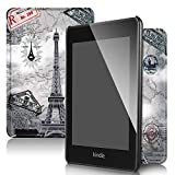 QITAYO Kindle Paperwhite Case 2018,Leather Smart Cover with Auto Wake/Sleep,Fits Kindle Paperwhite 10th