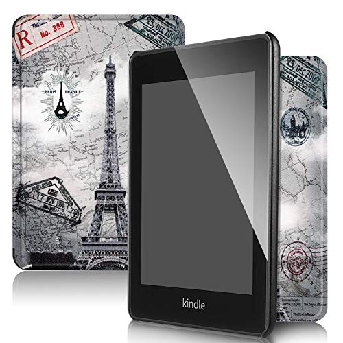 QITAYO Kindle Paperwhite Case 2018,Leather Smart Cover with Auto Wake/Sleep,Fits Kindle Paperwhite 10th Generation (Tower)
