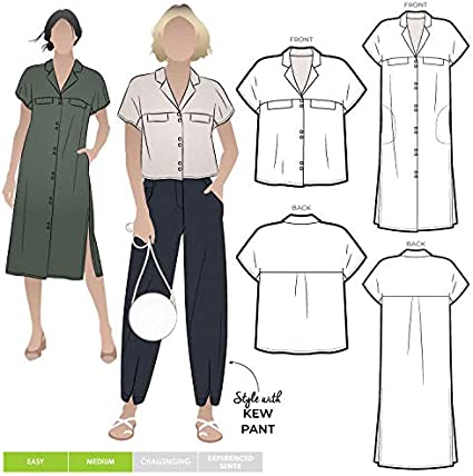 Sizes 04-16 Monty Shirt and Dress - Click for Other Sizes Available Style Arc Sewing Pattern