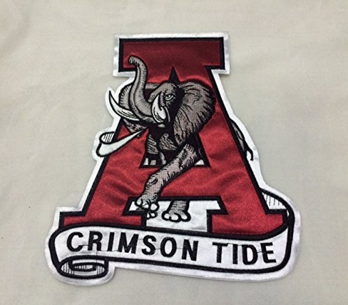 Alabama Crimson Tide Applique (Alabama Crimson Tide Big Old Logo Embroidered Patch 8.8