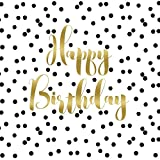 Paperproducts Design PPD 1332430 Birthday Confetti Lunch Paper Napkins, 6.5'' x 6.5'', Black/Gold