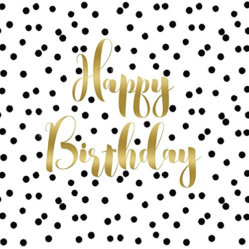 Paperproducts Design PPD 1332430 Birthday Confetti Lunch Paper Napkins, 6.5