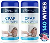 Care Touch CPAP Cleaning Mask Wipes - Unscented, Lint Free - 70 Wipes, Pack of 2-140 Wipes Total