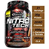 MuscleTech Nitro Tech Ripped Ultra Clean Whey Protein Isolate Powder + Weight Loss Formula, Low...