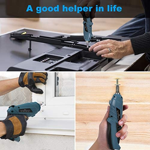 Cheap HANMATEK Rechargable Cordless Screwdriver Kit with straight and pistol style Powerful Electric Screwdriver Small Screw Guns PTXpvnK