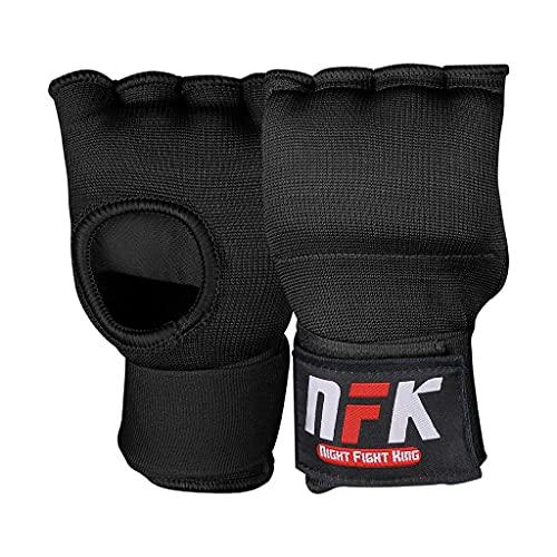 Night Fight King Gel Elastic Boxing Wraps Inner Padded Muay Thai MMA Hand Wrap Gloves for Men & Women