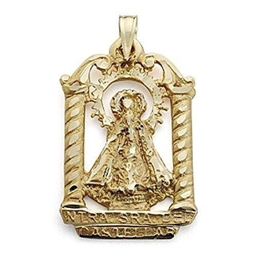18k Pendentif en or 27mm Virgin Castellar silhouette pallium. [7099]