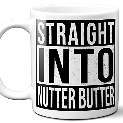 Nutter Butter Lover Gift Mug. 11 ounces.