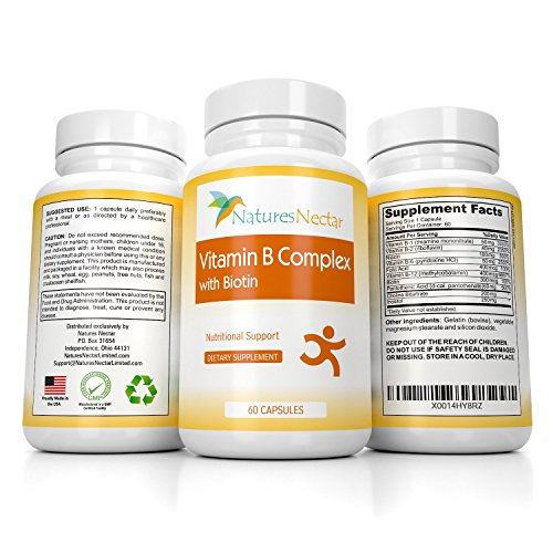 B-Complex Multivitamin Formula includes Vitamins B6, B12, Thiamine, Folic & Pantothenic Acid, Biotin, Niacin, Riboflavin, Choline, and Inositol To Support Natural Energy Production - 60 Capsules