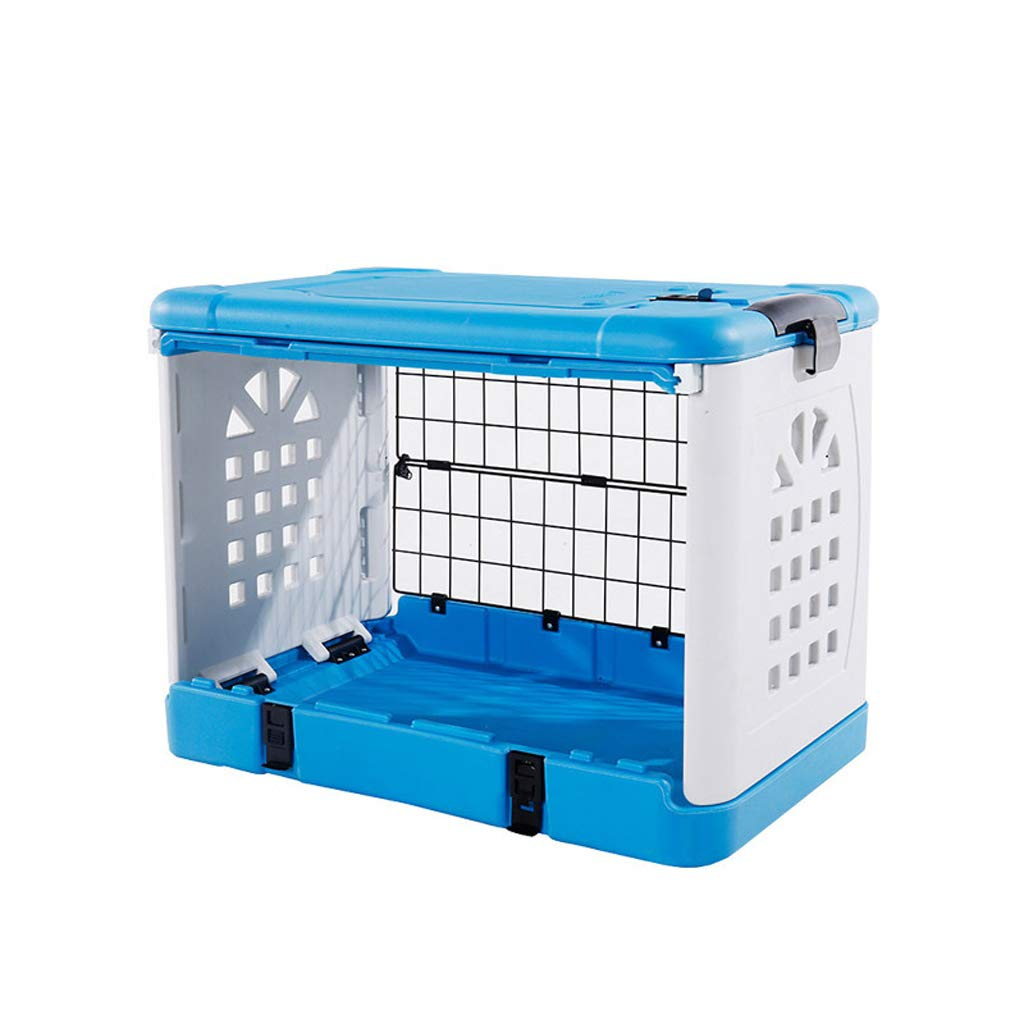 bluee DQMSB Cat Cage, Air Box Fashion Folding Pet Cage Size Dog Cage Pet bed (color   bluee)