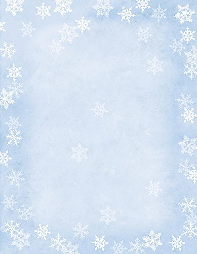 Hortense B Hewitt 80-Pack Sheets Winter Flakes Decorative Paper
