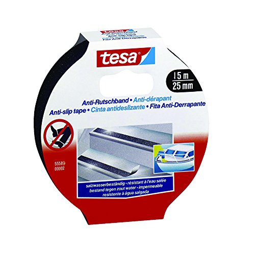 Tesa Anti-Slip Tape – 15m x 25mm, Black