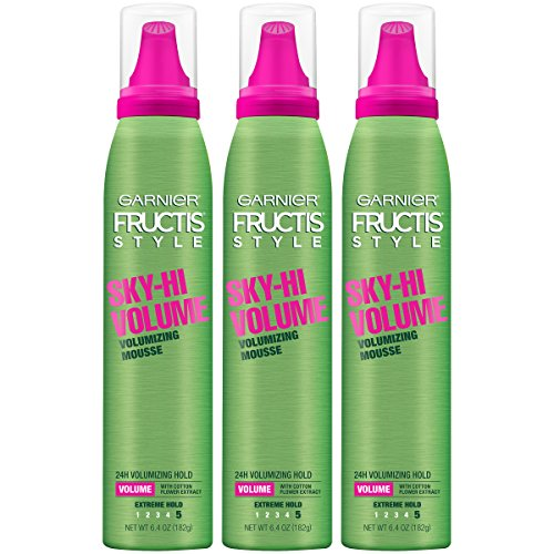 Garnier Fructis Style Sky-Hi Volume Volumizing Hair Mousse, 6.5 Ounce, 3 Count