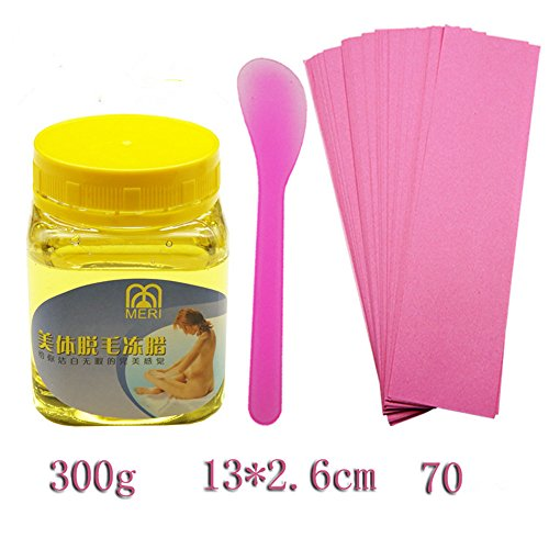 Removal Cream, Hometom Beeswax Body Hair Removal Wax Tearing Hair Removal Cream (Yellow)