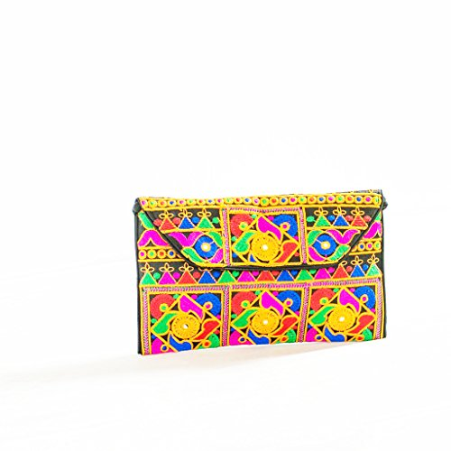 Ankit Multicolor Embroidered Clutches Mobile Wallet Pouch Purse Fashion Handbag