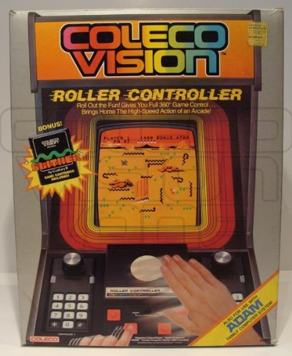Coleco Vision Roller Controller with Slither Game Cartridge for Colecovision Game ()