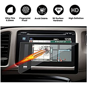 2016 2017 2018 Honda HRV EX EXL-Navi 7-Inch Display Touch Screen Car Display Navigation Screen Protector, RUIYA HD Clear TEMPERED GLASS Car In-Dash Screen ...