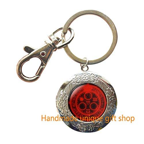 Fashion Locket Keychain, Charm Locket Keychain, Dainty Locket Keychain,Handmade HILL Locket Keychain, the Sun Glass dome Locket Key Ring, gift for Her - Sunglasses Tag Hills