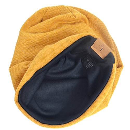VECRY Men's Cool Cotton Beanie Slouch Skull Cap Long Baggy Hip-hop Winter Summer Hat (Ginger) by VECRY (Image #2)