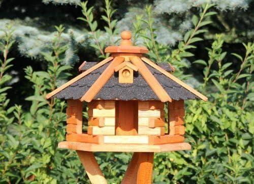 holzdekoladen Casa del pájaro con Iluminación solar Tipo 4-5 - Negro, klein: Amazon.es: Jardín