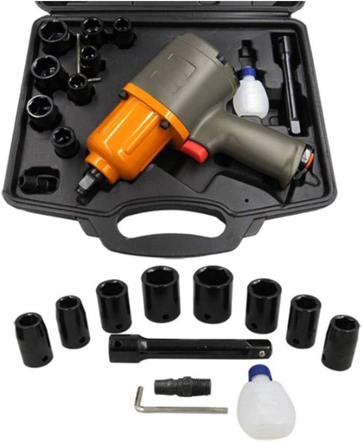 High Torque Car Tire Repair Tool 1//2 Inch Pneumatic Wrench Auto Repair Wind Wrench