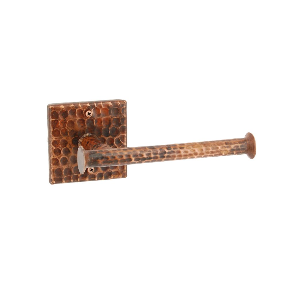 Premier Copper Products TPHLDRDB Hand Hammered Copper Tissue Paper Holder, Oil Rubbed Bronze