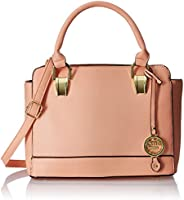 Cathy London Women's Handbag, Material- Syntethic Leather, Colour- Peach