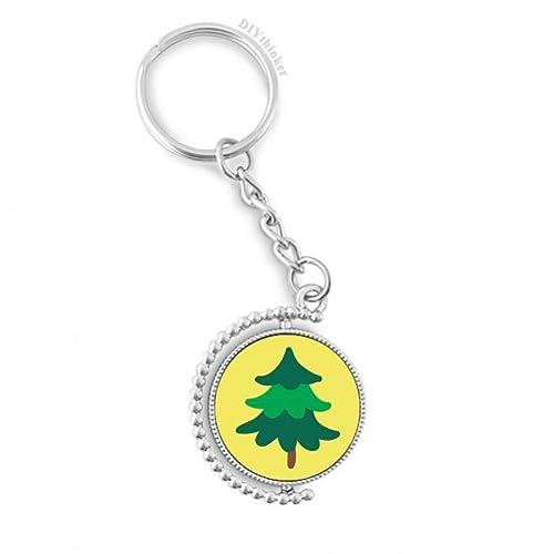 Amazon.com: Llavero giratorio con diseño de árbol de pino ...