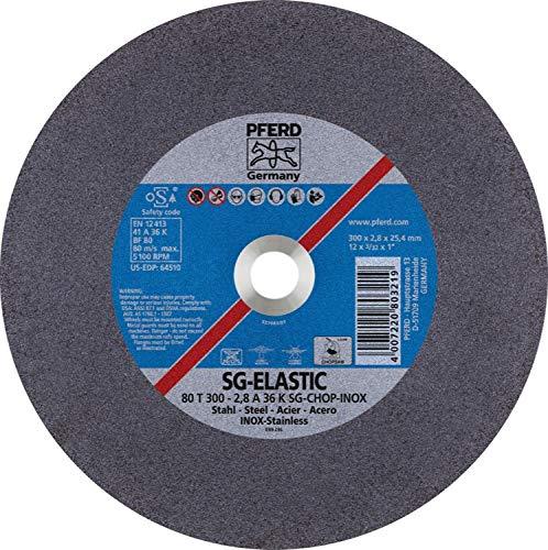PFERD 64510 12'' x 3/32'' Chop Saw Wheel, 1'' AH A 36 K SG-CHOP INOX (20pk)